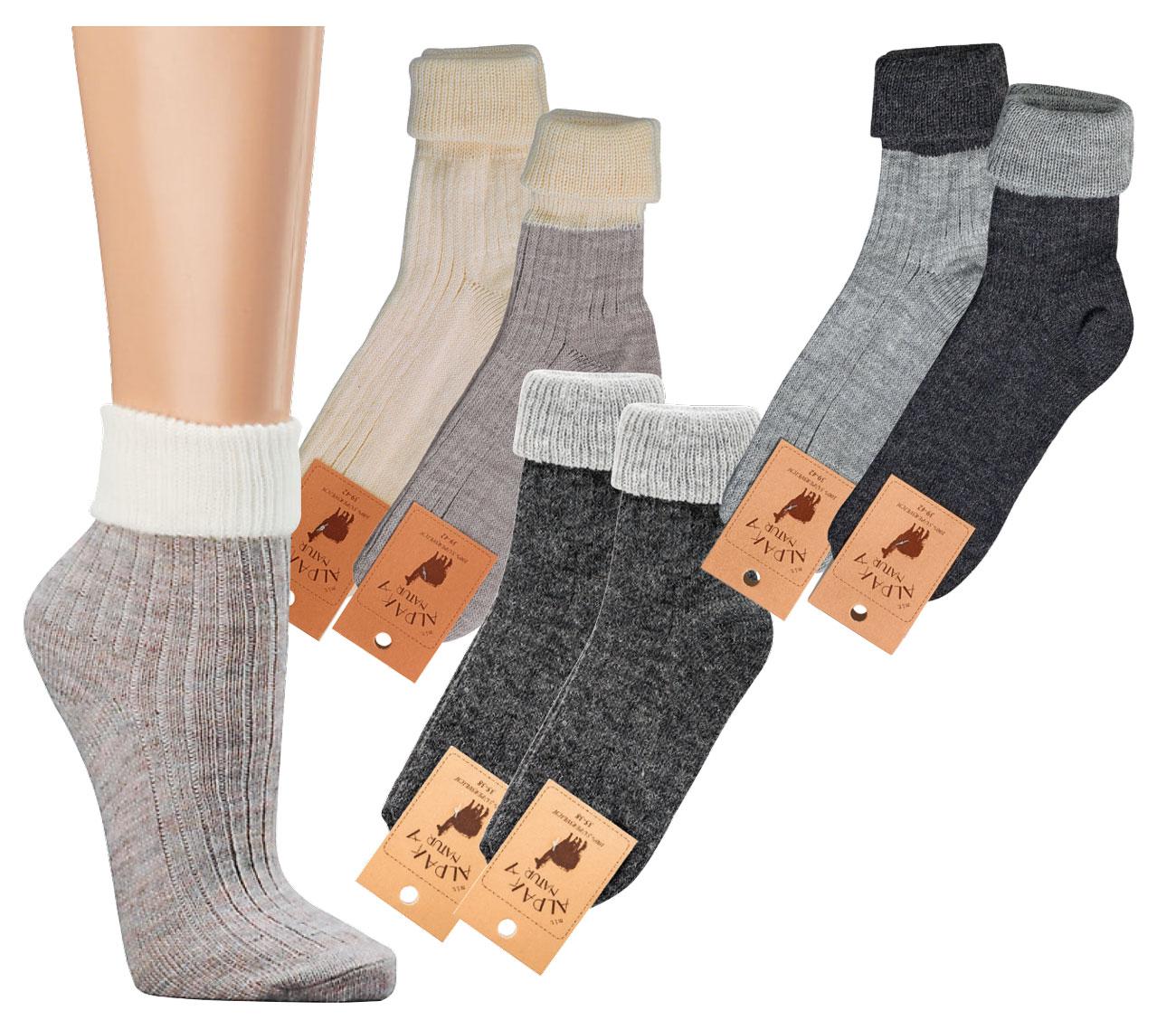 Sonderangebot Premium-Auswahl präsentieren Umschlag-Socken mit Alpaka Wolle