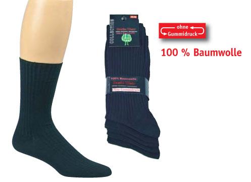 Herren Socken 100% Baumwolle